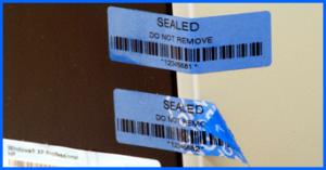 label no residue blue