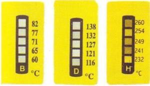 5-Felder Temperaturmessstreifen